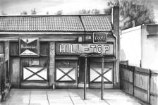 'Hilltop' (SOLD) Pen on paper 2014
