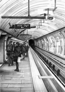 'Way Out' (SOLD) Pen on paper 2014